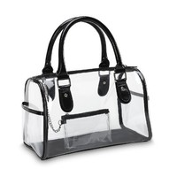 Designer Inspired Clear Satchel Handbag:Amazon:Clothing