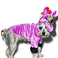 RASTA IMPOSTA Seeing Is Believing Unicorn Dog Costume - 2 PURPLE
