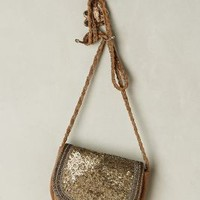 Jasper & Jeera Glinted Suede Crossbody Bag in Taupe Size: One Size Bags