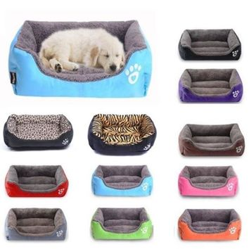 Large Pet Dog Bed Cushion House Puppy Cat Soft Autumn Winter Warm Kennel Mat Blanket Washable @LS