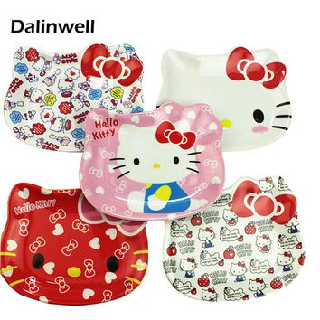 5PCS Brand Dalinwell Korean Japan Melamine Kid Hello Kitty Plate Plastic Baby Sushi Cake Fruit Dish Child Reakfast Food Tray