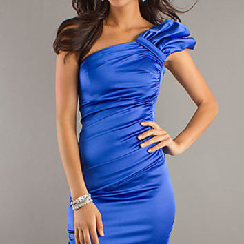 One Shoulder Knee length Dress by Atria