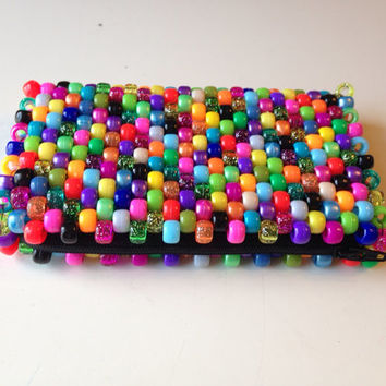 Beaded Coin Purse, Colorful Wallet, Kawaii Coin Purse, Kandi Wallet, Cute Coin Purse