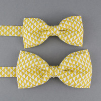 Mustard Bow Ties for Father Son Yellow Bow Tie Daddy Son Gift Toddler Bow TieChildren's Bow Tie Groom Ring Bearer Bow Tie Gift for Father