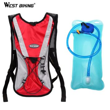 2L TPU Mouth Water Bladder Pack Backpack Bag Hydration