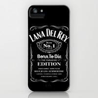 Lana Whiskey Del Rey Jack Daniels White iPhone & iPod Case by Marvin Fly