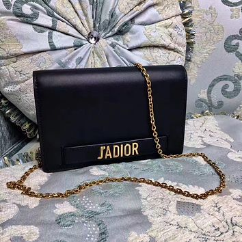 DIOR WOMEN'S JADIOR LEATHER CHAIN SHOULDER BAG
