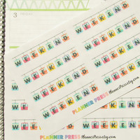 Weekend Cable Cars Reminder Planner Sticker for Erin Condren Life Planner (ECLP) Reminder Sticker