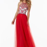 Mori Lee 99016 Embroidered Bodice Formal Prom Dress