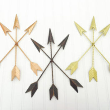 Metal Arrow - Turquoise Arrow - Tribal Decor - Arrow Decor - Rustic Decor - Metal Wall Decor -