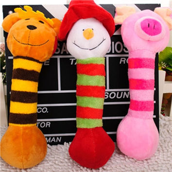 Pet Puppy Chew Squeaker Squeaky Plush Sound Toys 6 Designs Dog Cat Dog Toys = 1740596740