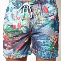 South Shore Tropical Swim Shorts at asos.com