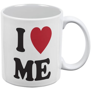 I Heart Me White All Over Coffee Mug