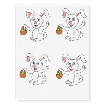 Easter Rabbit Temporary Tattoos