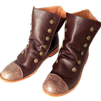 Brown leather boots * MADE TO ORDER *