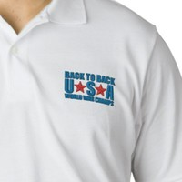 Back to Back USA World War Champs Embroidered Polo Shirt from Zazzle.com