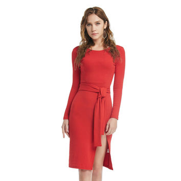 Winter Sexy Vintage Party Prom Dress Christmas Red Ladies One Piece Dress [9475976964]