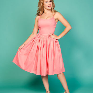 Pinup Couture Jenny Dress in Baby Pink