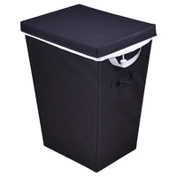 Lidded Hamper - Black with White Liner - Room Essentials™
