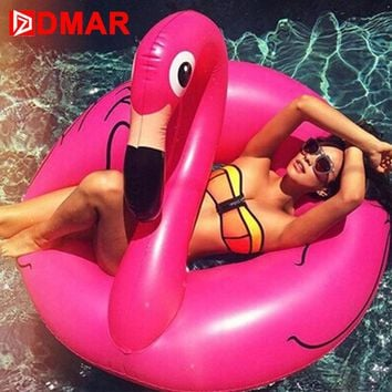 DMAR Inflatable Flamingo Swimming Ring Giant Float
