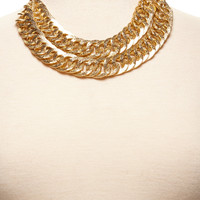 ideeli | CHELSEY HUFFMAN Two-Tier Heavy Chain Necklace