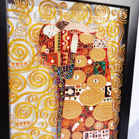 Gustav Klimt enspiration Tree of life art Fragment Glass painting