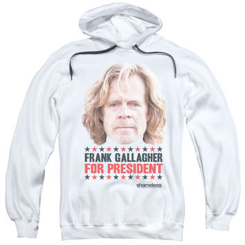 Shameless For President White Hooded Sweatshirt