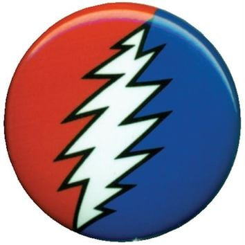 Grateful Dead - Lightning Bolt Button