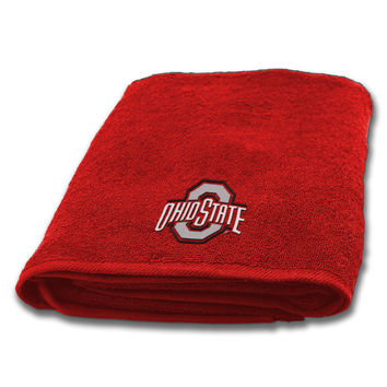 "Ohio State Collegiate, 25""""x 50"""" Appliqu Bath Towel"