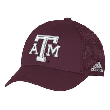 Texas A&M Aggies Adidas Structured Flex Fitted Hat