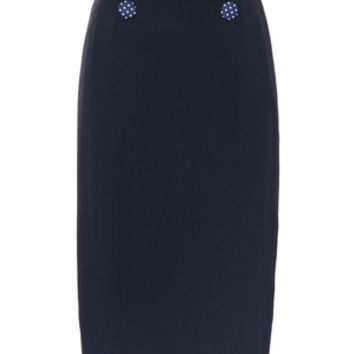 Three Dots and a Dashing Skirt in Navy