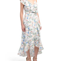 Floral Print Ruffle Midi Dress - Clothing - T.J.Maxx
