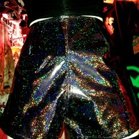 SWEET LORD O'MIGHTY! Gunmetal Holographic Shorts