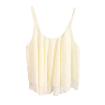 Women Sleeveless Loose Chiffon Blouse Shirts Casual Tank Top Lady Summer Sexy Vest