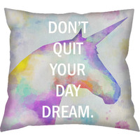 Walmart: Tac Home Don't Quit Your Daydream Pillow, Purple