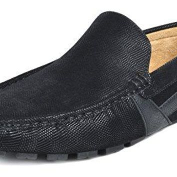 BRUNO MARC NEW YORK Men's Faux Leather Driving Penny Loafers Boat Shoes