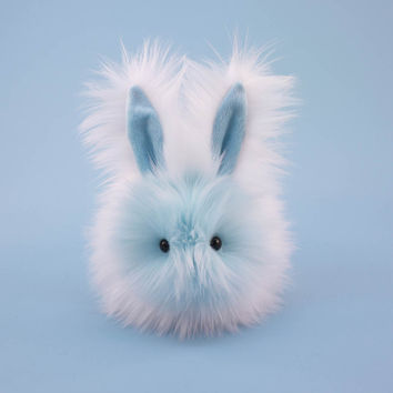 Snowflake the Blue and White Bunny Stuffed Animal Plush Toy