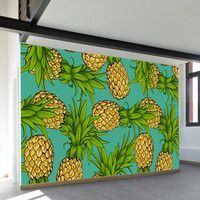 Crazy Pineapples Wall Mural
