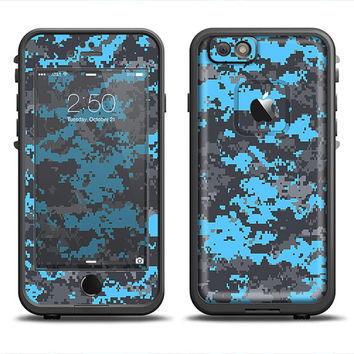 The Bright Blue and Gray Digital Camouflage LifeProof Case Skin Set (Other LifeProof Models Available!)