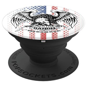 Q Anon American Flag Patriotic Eagle WWGOWGA - PopSockets Grip and Stand for Phones and Tablets