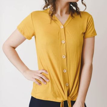 Button Top - Mustard