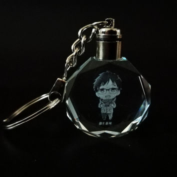 YURI on ICE Crystal LED Keychain
