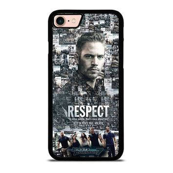 FAST FURIOUS 7 PAUL WALKER iPhone 8 Case Cover