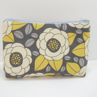 Cosmetic Pouch Zippered Pouch Cosmetic Bag Gray by moxiebscloset
