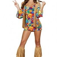 3 PC Hippie Hottie Costume @ Amiclubwear costume Online Store,sexy costume,women's costume,christmas costumes,adult christmas costumes,santa claus costumes,fancy dress costumes,halloween costumes,halloween costume ideas,pirate costume,dance costume,costu