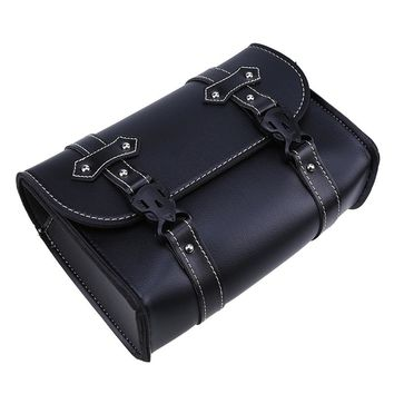 Universal PU Leather Motorcycle Luggages Bag Parts Saddle Bags Storage Tool Pouch Saddlebag Backpacks For Harley Cruiser Touring
