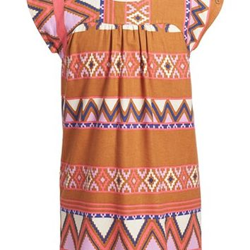 Girl's Tea Collection 'Oruro' Cotton Twill Dress,