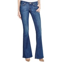 True Religion Womens Denim Dark Wash Bell Bottom Jeans