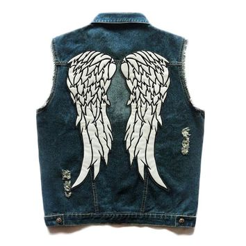 Trendy HEROBIKER Motorcycle Vest Classic Vintage Motorcycke Jacket Men Club Denim Vest Biker Motorcycle Rider Vest Sleeveless Clothing AT_94_13