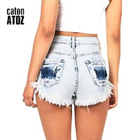 Denim Shorts Fashion Brand Vintage Tassel Ripped